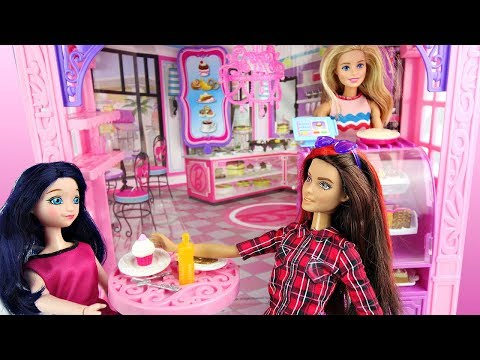 Miraculous ladybug Marinette & Alya Barbie Bakery Patisserie playset Histoire de poupées thumbnail