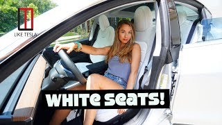 World's First Tesla Model 3 With White Seats!
