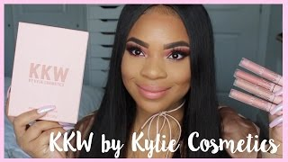 KKW x Kylie Cosmetics Collection | Swatches &  Review.