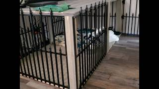 Build your own DIY rustic big dog crate furniture table