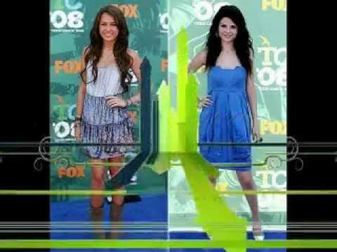 Miley Cyrus and Selena Gomez look alike?