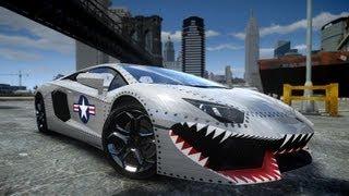 GTA IV 2012 Lamborghini Aventador LP700-4 USAF Crash Testing HD