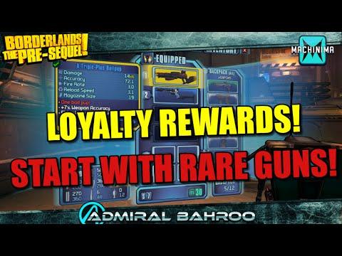 Borderlands The Pre-Sequel: Loyalty Rewards for Playing Borderlands 1&2 - Get Unique Guns at Level 1