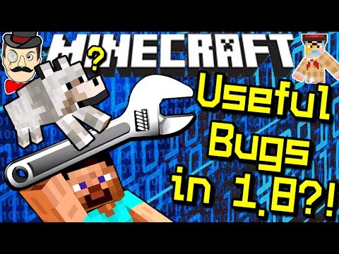 Minecraft USEFUL BUGS in 1.8?! Dogs Find Caves & More!