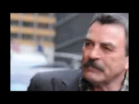 Tom Selleck outside Letterman Show