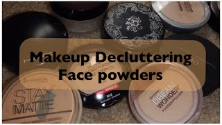 Makeup Decluttering: Face Powders | JustJasmine24
