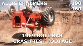1969 Allis Chalmers 16mm Roll Bar Crash Test Footage
