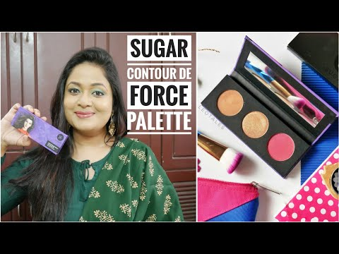 Sugar Cosmetics Contour De Force Face palette |Vivid Victory |Swatches and Demo |Review