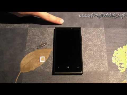 Nokia Lumia 920 - Come inserire la micro SIM e prima accensione