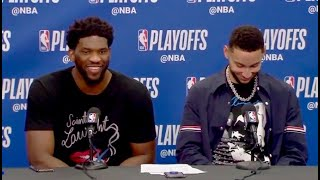 Ben Simmons Laughs At Joel Embiid's Apology For Throwing Elbow At Allen | 76ERS vs. NETS | 4.15.2019
