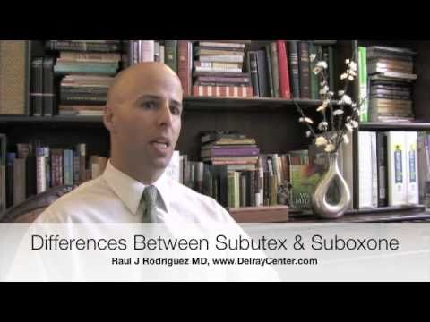 0 How to tell Differences between Subutex and Suboxone with Dr Rodriquez and Delray Center