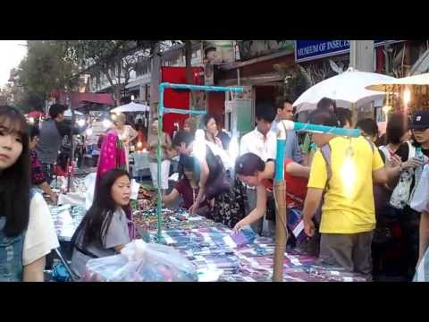 2.Chiang Mai Sunday Night Walking Street Market 2014 Thailand Video Review
