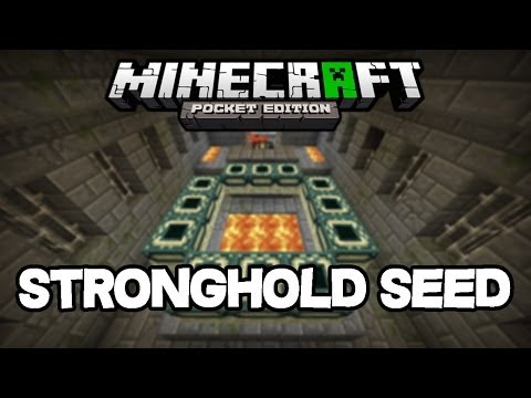 Minecraft PE 0.9.0 - Stronghold w/ End Portal and Village Spawn