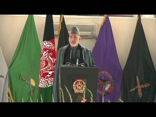 President Karzai visits NMAA (Dari version)