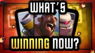 Clash Royale | WHAT'S WINNING NOW? | TOP WIN % DECKS for NEW META!