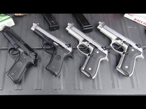 NEW BERETTA 92FS INOX unboxing and shooting