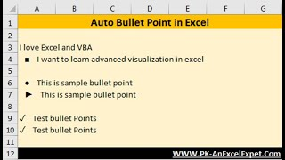 Excel Tip: Auto Bullet Points in Excel