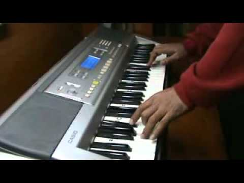 mere mehboob qayamat hogi .. on piano by mmv - film mr. x in...