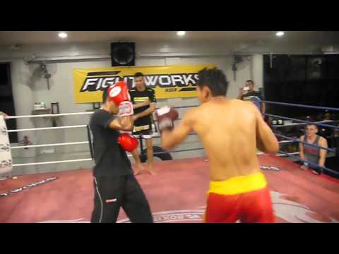 Fightworks Asia | muay thai boxing BJJ MMA Gym in Singapore | PingPong vs Nor Rizan 2