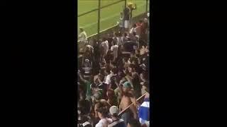 Hincha argentino celebró un triunfo con su pierna ortopédica y otro llevó a un perro
