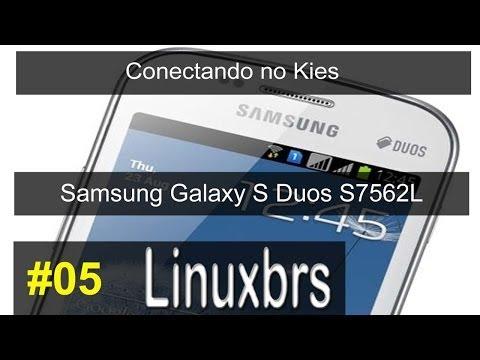 Samsung Galaxy S Duos GT - S7562 - Conectando no Kies - PT-BR
