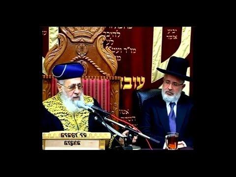 """הראשון לציון הרב יצחק יוסף שליט""""א - שיעור מוצ""""ש מקץ תשע""""ז"""