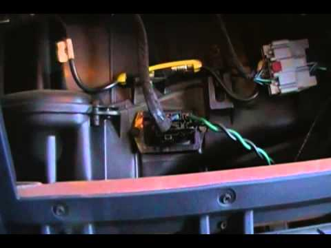 How to change the blower motor resistor - 2002 Dodge Caravan