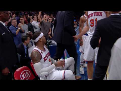 Carmelo Anthony Hits the CLUTCH Game Winning Shot! l 11.25.16