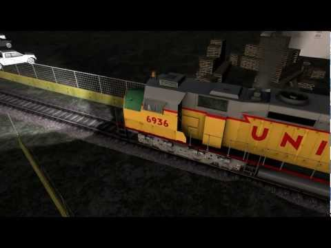 Railworks 3 Gameplay {HD}- DD40X Centennial on Castle Rock