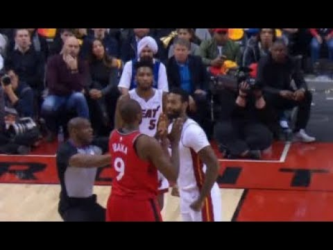 NBA James Johnson vs Serge Ibaka Fight 2018 Heat vs Raptors