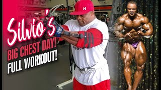 SILVIO'S BIG CHEST DAY-FULL WORKOUT!