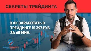 Как заработать в трейдинге 15 397 руб руб за 65 мин. [ Сделка онлайн -  Ерин Роман]