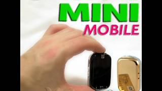 WORLD SMALLES mini micro tiny SLIDE PHONE MATCHBOX SIZE, GOLD