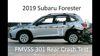2019-2020 Subaru Forester FMVSS 301 Rear Crash Test (50 Mph)