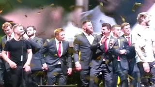 Take That and the England Rugby Team