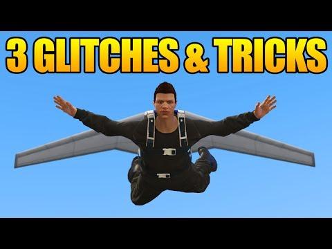 GTA 5 Online - 3 GLITCHES & TRICKS! (Flying Glitch, Secret Bridges Under Map & Secret Hiding Spot)