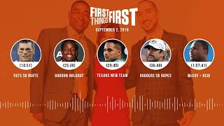 First Things First Audio Podcast(9.02.19) Cris Carter, Nick Wright, Jenna Wolfe | FIRST THINGS FIRST