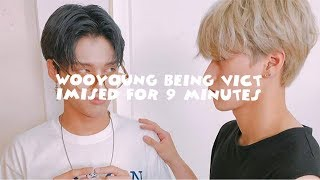 [ATEEZ] Funny moments: Wooyoung being victimised for 9 minutes