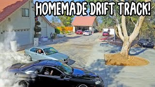 Creating drift track at my house! **4 Crashes on film**