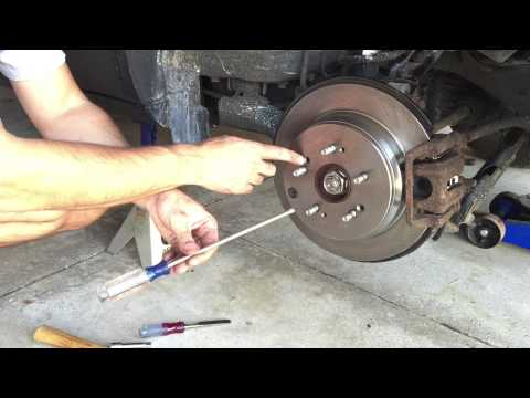 How To Replace Rear Brake Pads And Rotors On A 2003 Honda ...