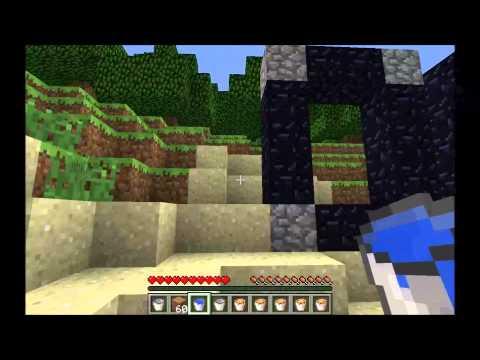 Minecraft 1.4.7 Cómo hacer un portal al nether sin tener que picar obsidiana