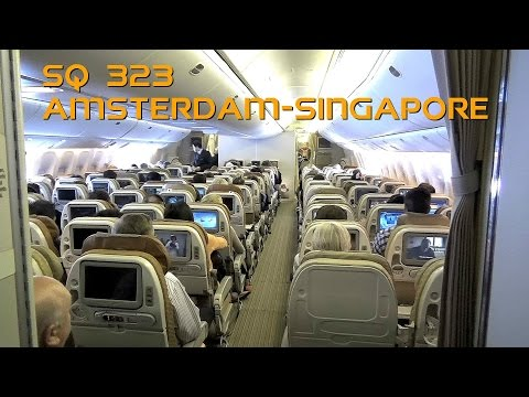 Flight report: Singapore Airlines Boeing 777-312ER - Flight SQ323 Amsterdam to Singapore