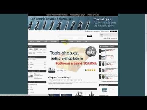 Registrace a prvni nákup na www.tools-shop.cz (1.)