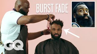 James Harden's Burst Fade Haircut Recreated by a Master Barber | GQ