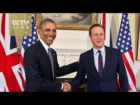 Obama meets with Cameron at Downing Street, gives speech