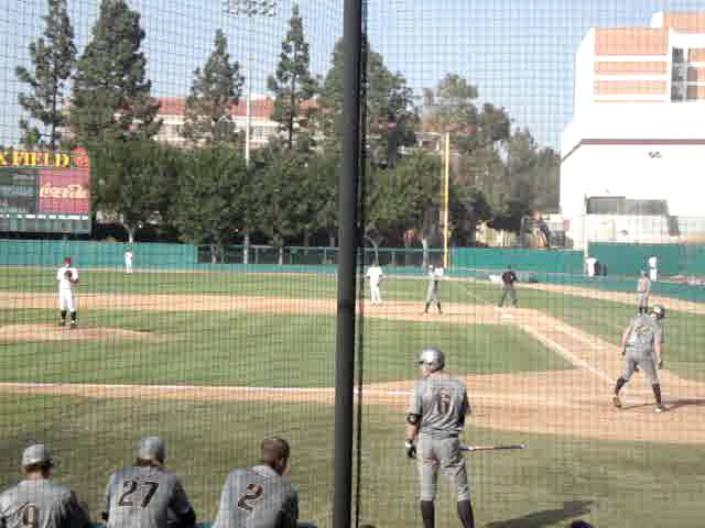 USC&#039;s pitcher doesn&#039;t tag the bag on a dribbler by JJ Altobelli 3-16-2013