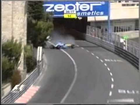 F1 2004 - Monaco Grand Prix - crash Fernando Alonso