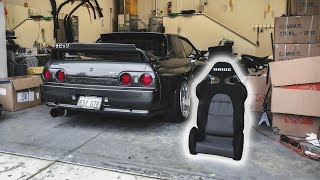 Carbon Fiber Bride Seats + Rare JDM Parts for Skyline GTR!