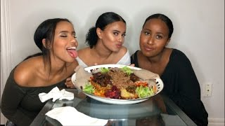 ETHIOPIAN FOOD MUKBANG | GIRL CHAT (BOYFRIEND GETS JUMPED?!)