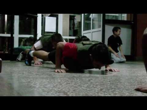 "Klub za Borilacke i Ekstremne Sportove ""Soko"" Pozega, kondicioni trening-trcanje, stepovanje. Pesma/Song: Avicii - Wake me up."